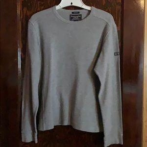 Men's ABERCROMBIE light gray pullover